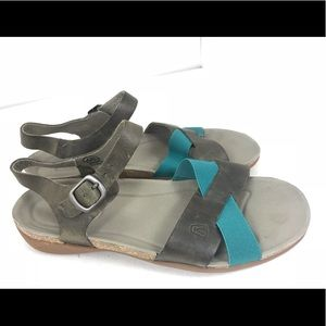 Keen dauntless Ankle Strap gray teal sandals 8